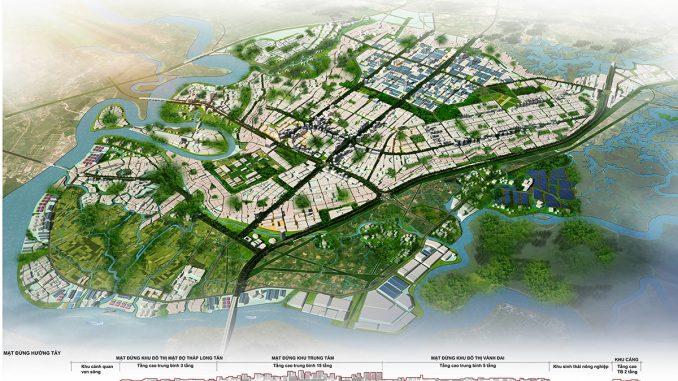 Phối cảnh tổng thể huyện Nhơn Trạch, Đồng Nai