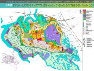 Bản đồ quy hoạch định hướng phát triển không gian đô thị Nhơn Trạch đến năm 2035