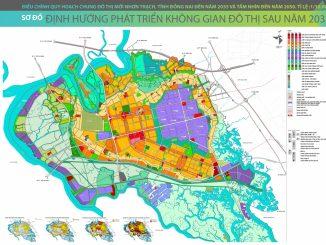 Bản đồ định hướng phát triển không gian đô thị Nhơn Trạch sau năm 2035