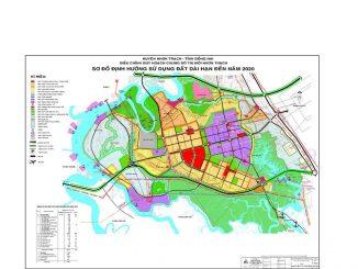 Bản đồ quy hoạch sử dụng đất huyện Nhơn Trạch đến 2020